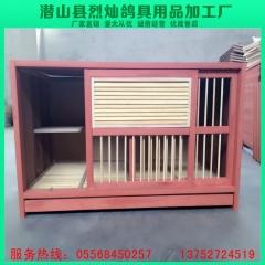 鸽具厂直销 仿红木种鸽巢箱 百叶拉门 长90×高50×厚50