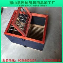 仿红木面穿不锈钢钢管折叠布笼 训放笼 放飞笼 长40宽28高23