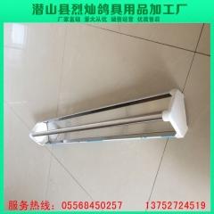 厂家定制批发鸽子鸟类不锈钢饮水槽食槽 长40×宽10×高5