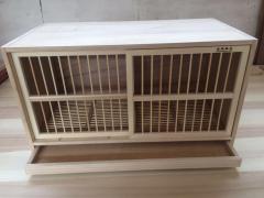 拉门配对笼/鸽子巢箱/实木拉门赛鸽箱 80长x45高x42厚度