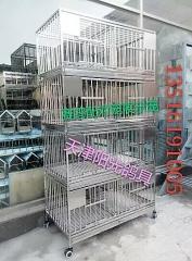 赛鸽配对笼,展示笼,集鸽笼,全不锈钢配对笼4层一组可以拆装规格100-54-186公分