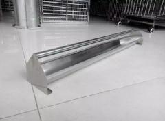 信鸽不锈钢用品批发,鸽具批发零售,不锈钢半圆食槽规格80公分长